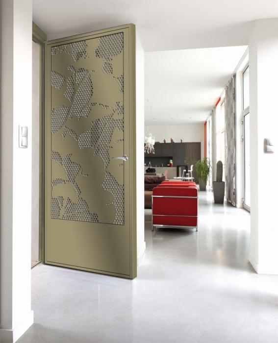 Porte ginko porte style design contemporain le for Porte 3 points