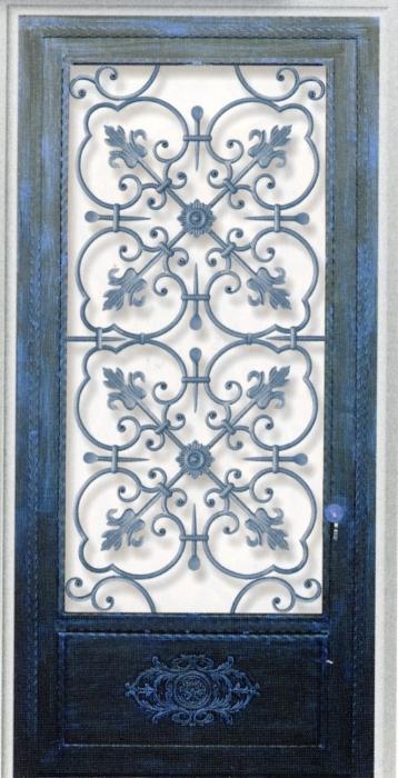 Porte en fer forg catherine porte en fer forg style classique le grand catalogue porte for Porte en fer et verre
