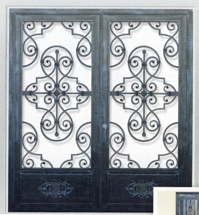 porte en fer forg elisabeth porte en fer forg style classique le grand catalogue porte. Black Bedroom Furniture Sets. Home Design Ideas