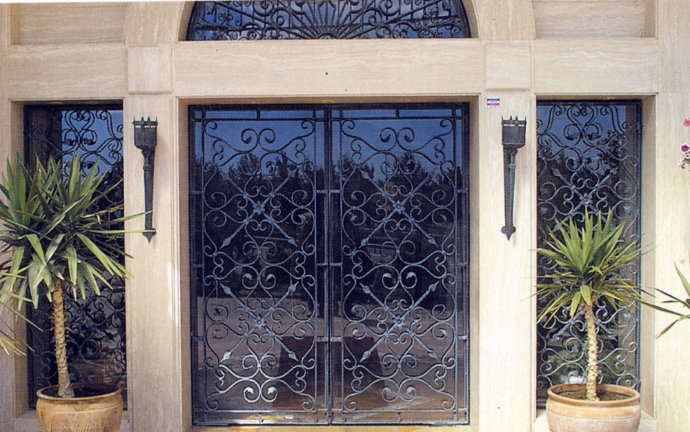 Porte en fer forg marion porte en fer forg style - Porte d entree double battant ...