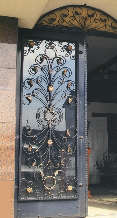 Porte en fer forg enghien porte en fer forg style classique le grand catalogue porte for Porte en fer et verre
