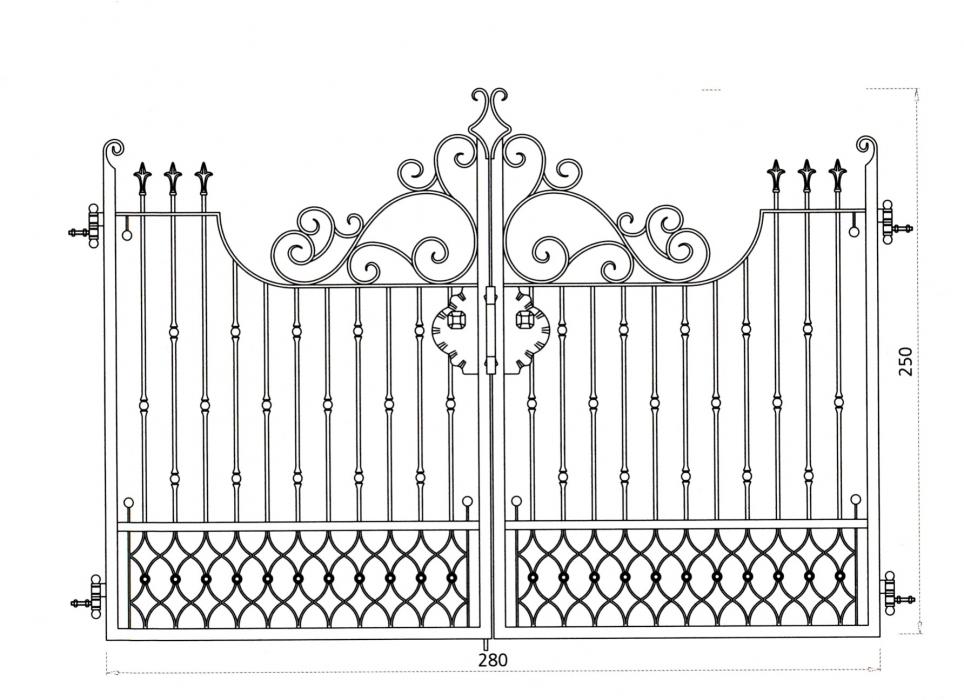 Portail en fer forg bosphore portail en fer forg for Dessin portail fer forge