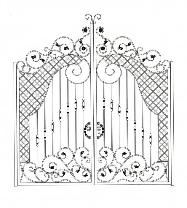 Portail en fer forg v rone portail en fer forg style classique le grand catalogue for Dessin en fer forge