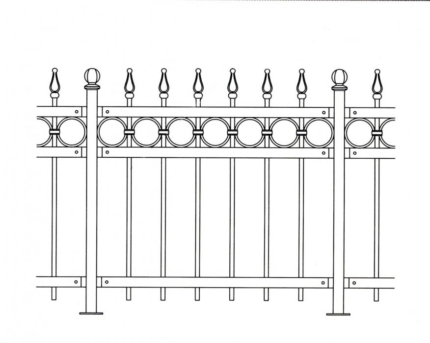 grille en fer forg b atrice grille de cl ture en fer forg style classique le grand. Black Bedroom Furniture Sets. Home Design Ideas