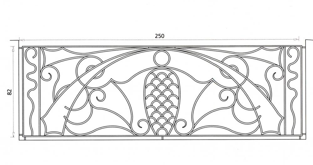 Grille en fer forg ester grille de cl ture en fer forg style classique le grand for Portail fer forge art deco
