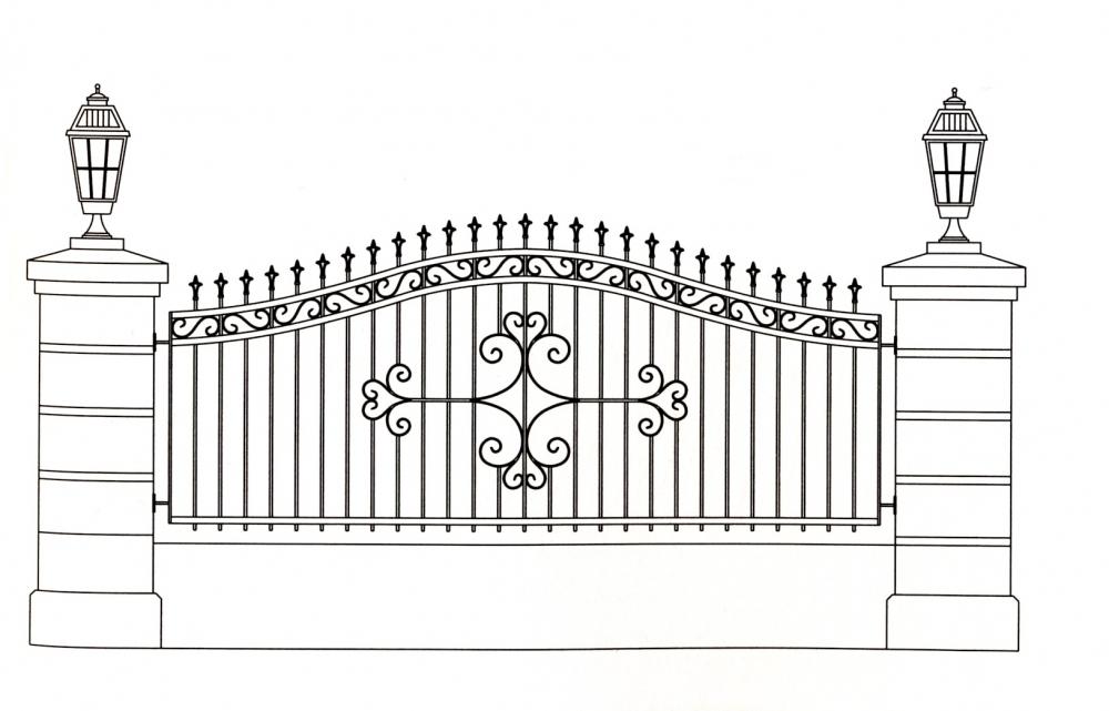 grille en fer forg jeanne grille de cl ture en fer forg style classique le grand. Black Bedroom Furniture Sets. Home Design Ideas