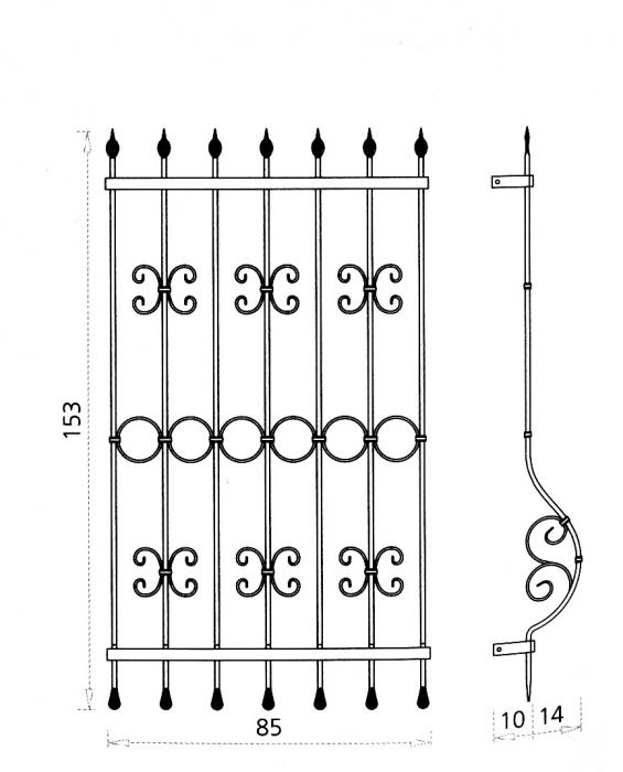 Grille de fen tre eostre grille de fen tre en fer forg style classique le grand catalogue - Grille de fenetre en fer forge moderne ...