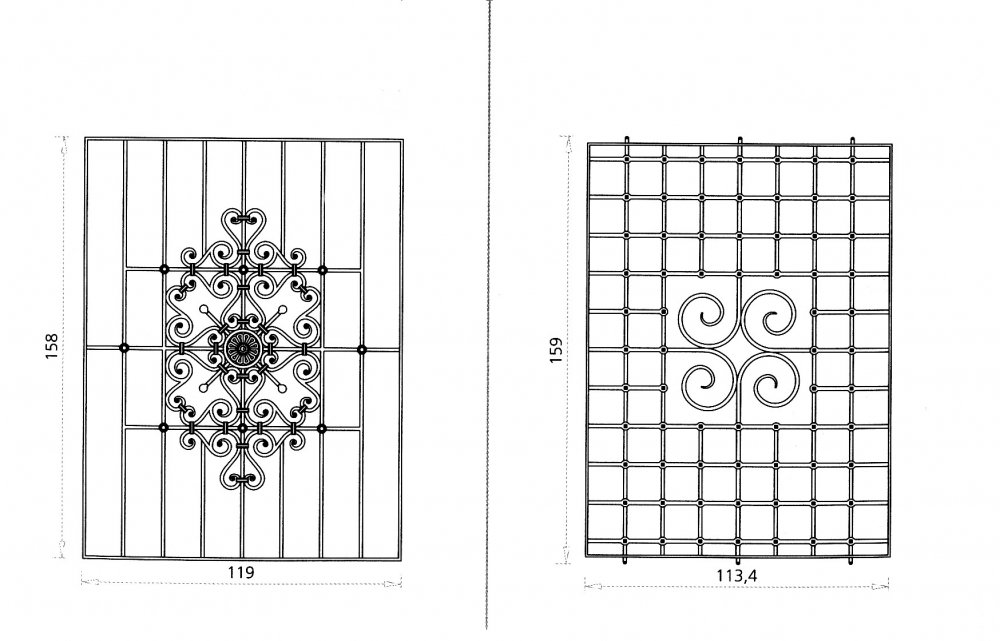 Shamrodia et alcadia grille de fen tre en fer forg style classique le grand catalogue for Design fer forge fenetre