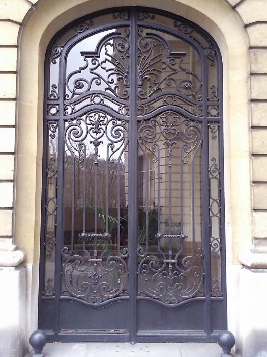 Porte En Fer Forg Honfleur  Porte En Fer Forg  Style Classique