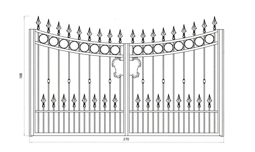 Portail en fer forg vauban portail en fer forg style for Dessin portail fer forge
