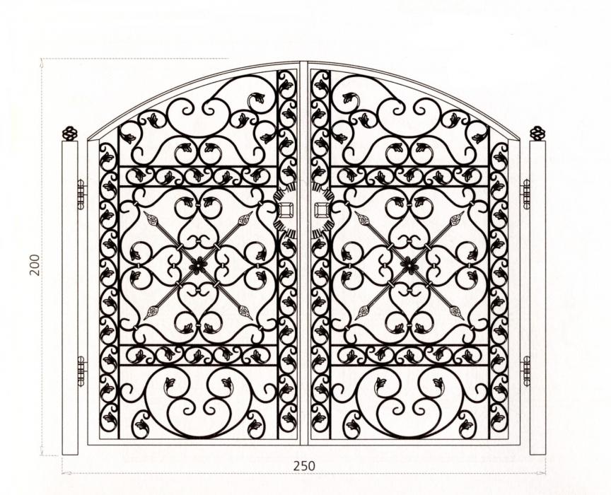 Portail en fer forg piemont portail en fer forg for Dessin portail fer forge