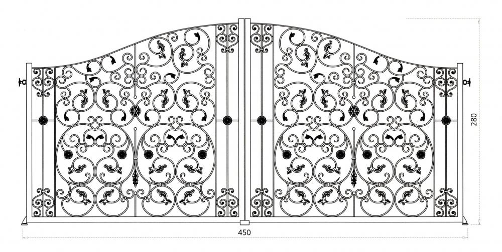 Portail en fer forg aphrodite portail en fer forg for Dessin portail fer forge