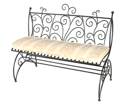 canap jardin d 39 t fer forg mobilier en fer forg. Black Bedroom Furniture Sets. Home Design Ideas