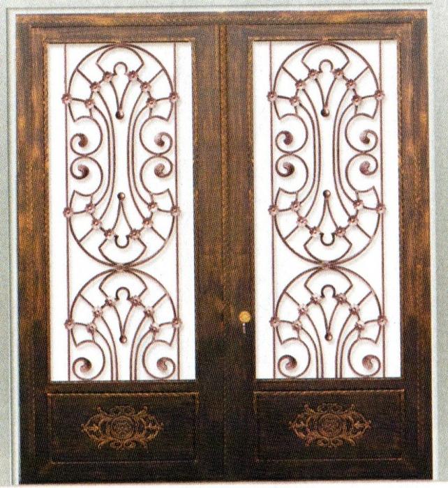 porte en fer forg montrouge porte en fer forg style. Black Bedroom Furniture Sets. Home Design Ideas