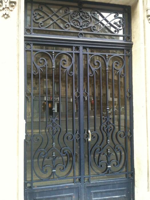 Porte en fer forg augustine porte en fer forg style for Prix porte en fer forge