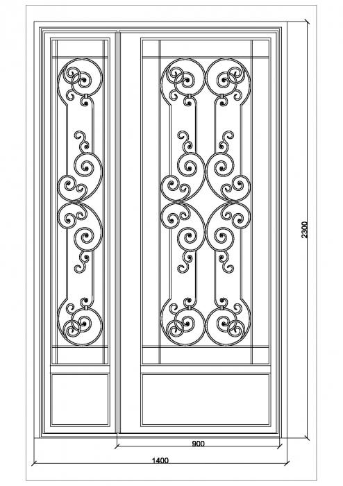 Porte en fer forg berthille porte en fer forg style classique le grand catalogue porte for Porte en fer forge en tunisie
