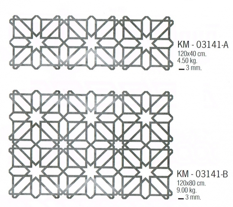 Très Motifs en découpe laser, modèle 2013 KM 03141 - Métal découpé au  NC85