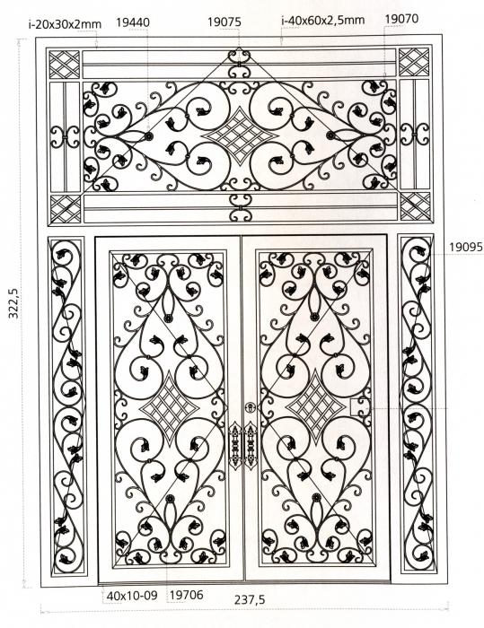 Porte en fer forg rochebaron porte en fer forg style for Motif en fer forge