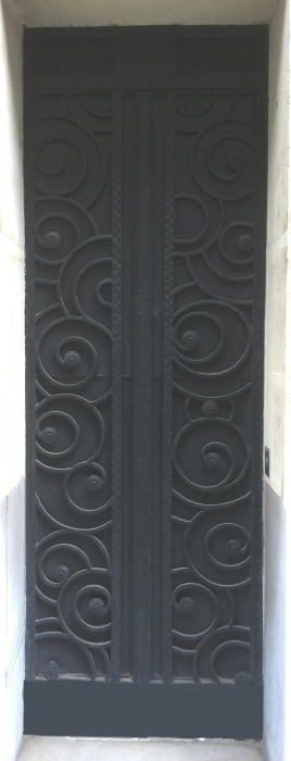 Porte en fer forg style art d co le grand catalogue porte en fer forg portail en fer for Portail fer forge art deco