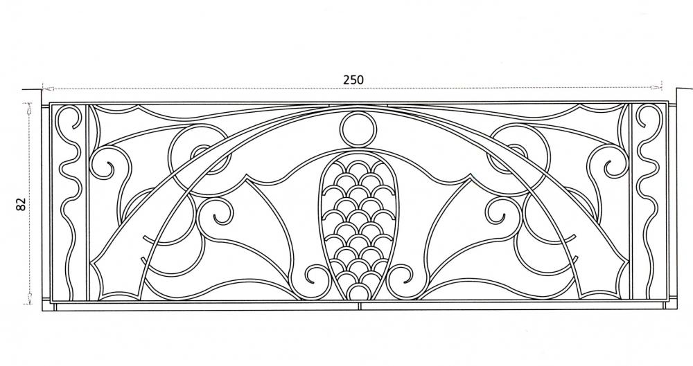 garde corps en fer forg esther garde corps en fer forg style art d co le grand. Black Bedroom Furniture Sets. Home Design Ideas