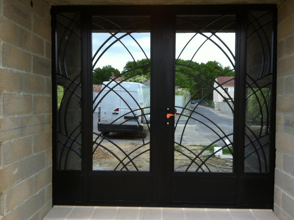 Porte en fer forg antoine porte style design - Porte d entree double battant ...
