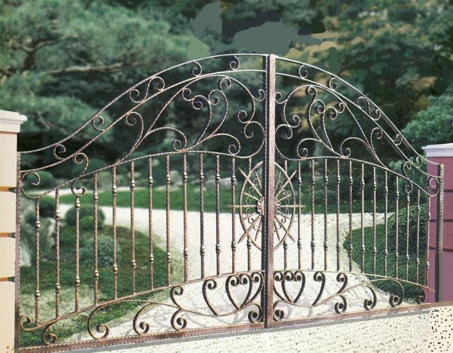 Portail atlantis portail en fer forg style classique for Dessin portail fer forge