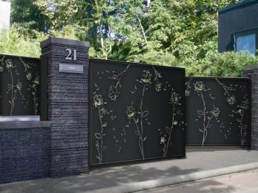 Portail p tales portail syle design contemporain for Portail fer forge design