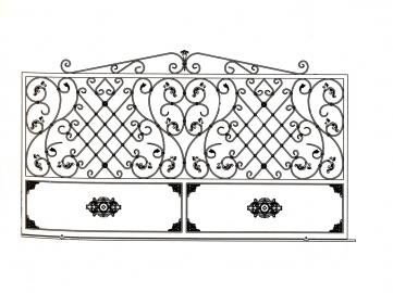 Portail en fer forg florence portail en fer forg for Dessin de portail en fer forge
