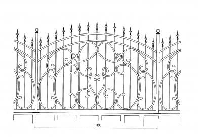 grille en fer forg raphaelle grille de cl ture en fer forg style classique le grand. Black Bedroom Furniture Sets. Home Design Ideas