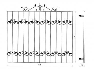 Grille de fen tre en fer forg style classique le grand catalogue porte en fer forg for Porte et fenetre en fer