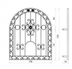 Grille de fen tre vesta grille de fen tre en fer forg style classique le grand catalogue for Les fenetres en fer forge