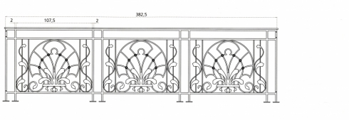 Garde corps en fer forg style art d co le grand catalogue porte en fer forg portail en for Portail fer forge art deco